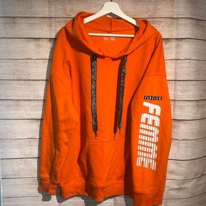 Super Soft Forever Femme Orange Hoodie XXL